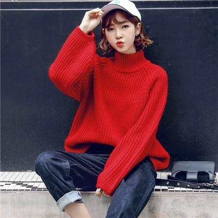红色毛衣搭配