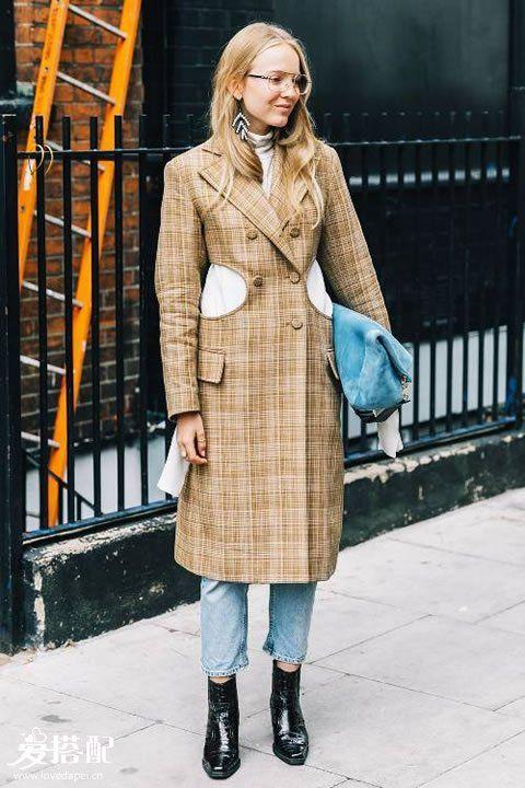 冬季时尚穿搭攻略:九分裤+踝靴